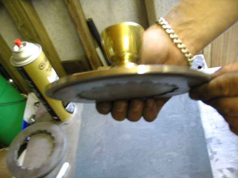 Holding tool with plate in place